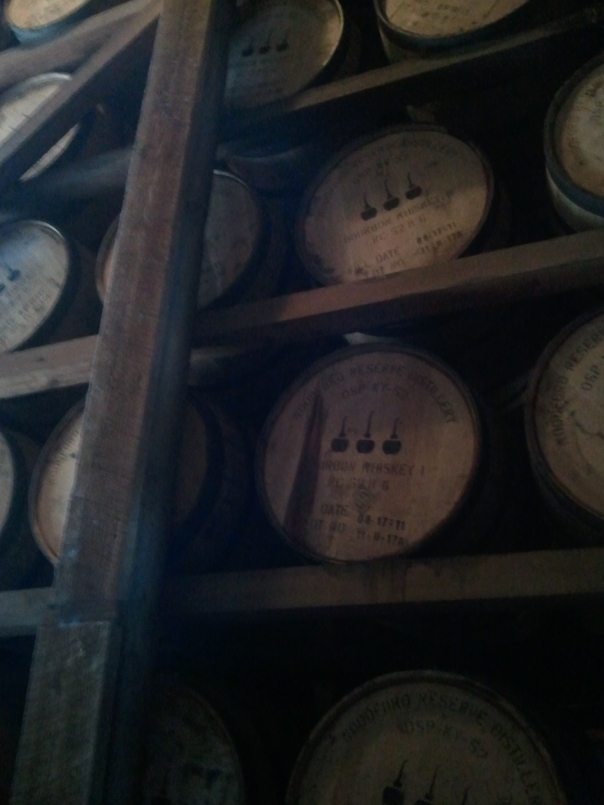 Barrels upon Barrels of Kentucky Bourbon