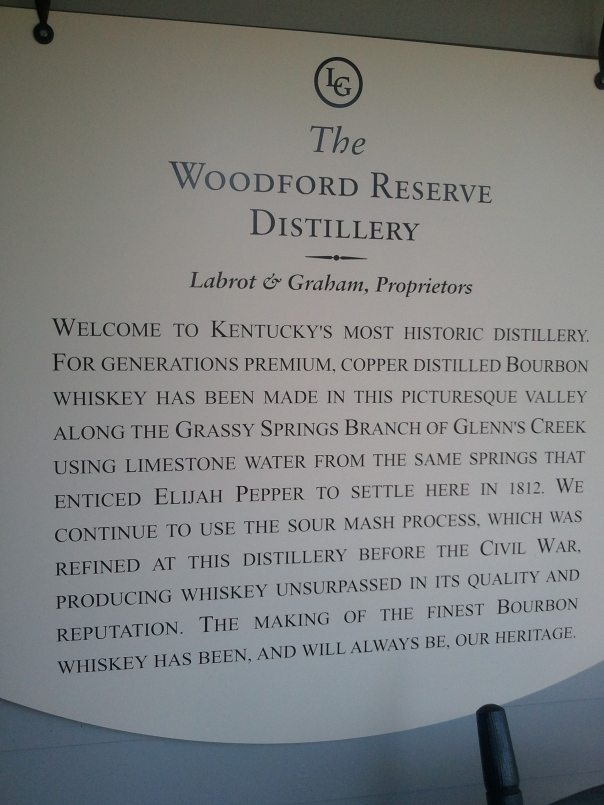 The Woodford Reserve Distillery Description