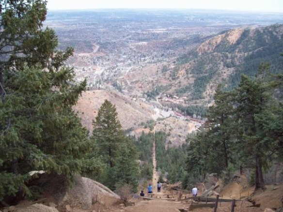 Top of the Incline, Overlooking Colorado Springs and Manitou Springs, www.ishism.com