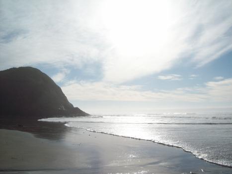 Oregon Coast near Florence, sun and clouds, beach, http://www.ishism.com