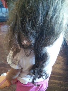 Attempt at Braiding - 10 Minutes Later
