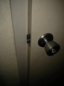 the bathroom door would not close, so it kept swinging open